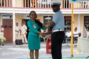 Sargeant Garvin Boyce, runner up to best cop, 'A' Division, Guyana Police Force