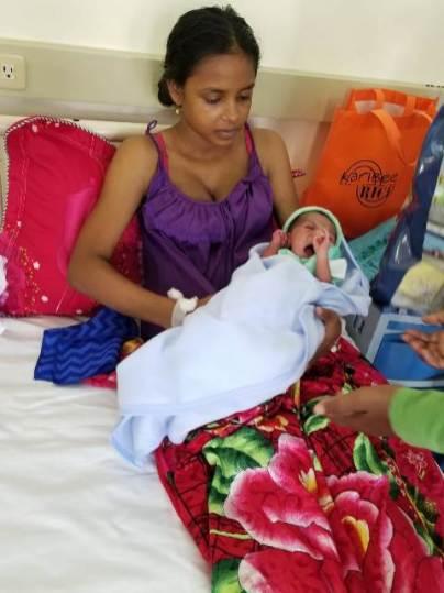 Hansaranie Latchana and her bouncing baby boy.