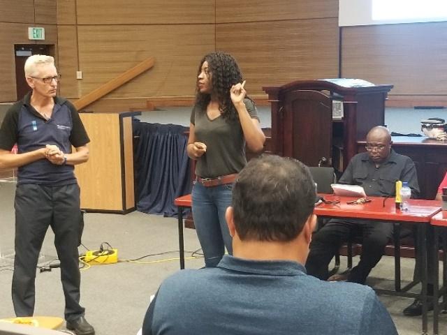 Sherry-Ann Wilson during a presentation.