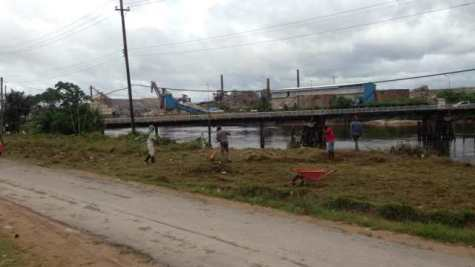 West Watooka residents participating in a self-help clean-up campaign in their community.
