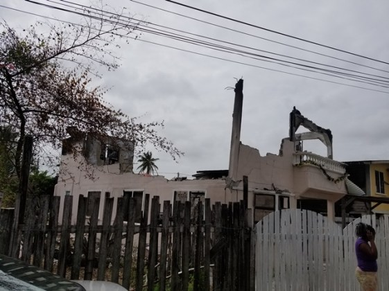 House that was destroyed by the fire.
