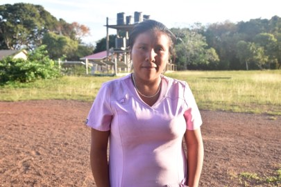 Janet Francis, a Community Health Worker of Yupukari Village.