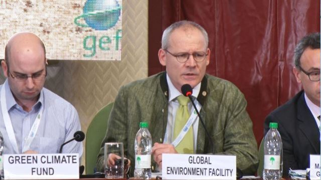 Ulrich Apel a Senior Environmental Specialist, Global Environment Facility addressing the CRCI 17 forum.