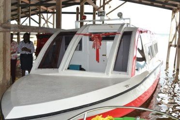 The $11M Water Ambulance which has been commissioned for Bartica.