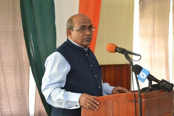 High Commissioner of India to Guyana, V. Mahalingam.