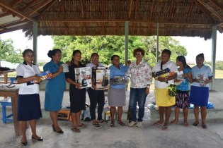 Youths of Achiwib receiving their Resource Kits.
