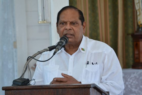 Prime Minister, Moses Nagamootoo pays tribute to Francis Vibert DeSouza