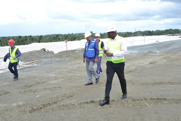 Minister of Public Infrastructure, David Patterson tours CJIA Expansion Project.