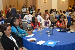 Youths from across the Caribbean at the Summit on Youth Violence Prevention.