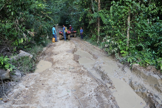 A section of the road which will be upgraded leading into Yurong Paru.