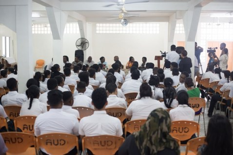 Scenes during the Mae's Secondary School counselling intervention.