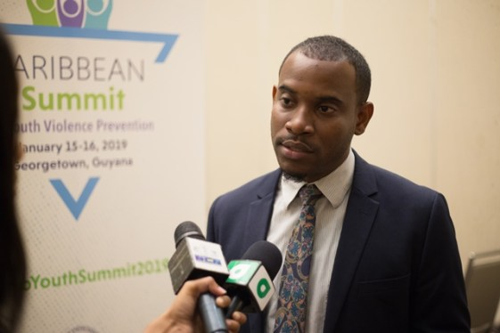 Commonwealth Youth Council, Caribbean and Americas Region Representative, Franz George.