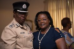 Minister within the Ministry of Natural Resources, Simona Broomes and Assistant Commissioner of Police, Maxine Graham