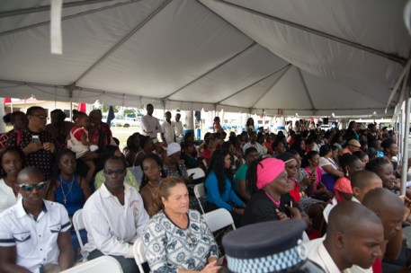 A section of parents, family and friends gathered at the graduation ceremony.