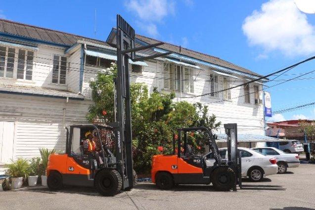 New Doosan Forklift Trucks.