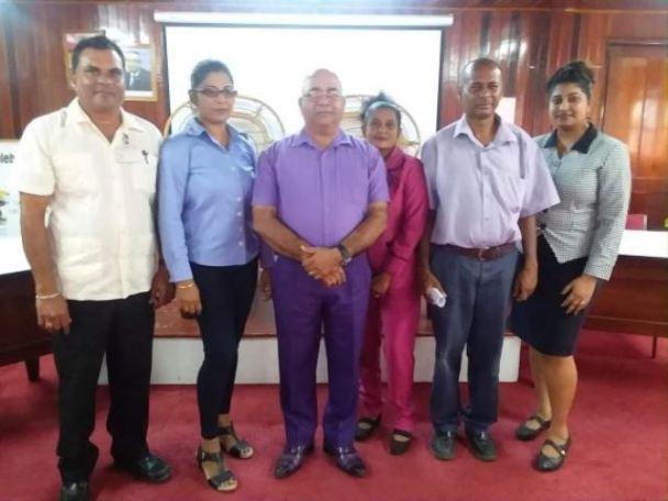 REO Jaikaran with the Overseers of the five NDCS in Region Two.