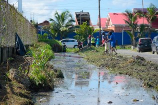 Scenes from the clean up exercise in West Ruimveldt.