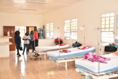 The maternity waiting room for mothers from far flung communities.