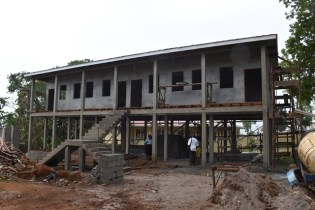Living quarters at the Mabaruma Regional Hospital where doctors and other specialist staff will be housed.