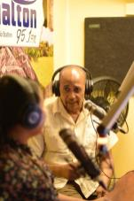 Member of Parliament, Michael Carrington on air at Radio Aishalton underscoring the importance of preservation of Indigenous culture