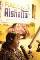 Aishalton Radio Host, Leah Cassimero