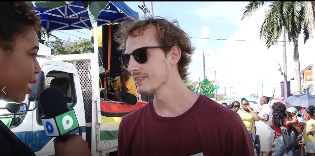 French-citizen Bastian shares his views on mash 2019 with Department of Public Information's correspondent Alleya Hamilton.