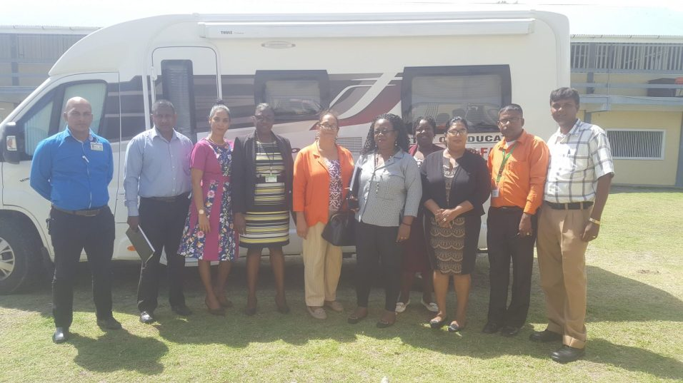 Officers from Region Six's Education Department, along with Officers from the School Welfare's Department