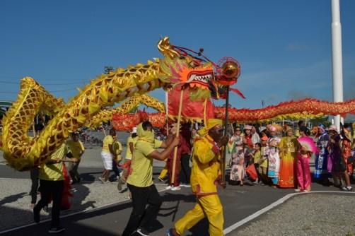 The Chinese Association of Guyana debuted Mashramani display.