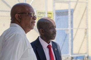 Minister of Finance, Winston Jordan and Managing Director, Andrew Astwood.
