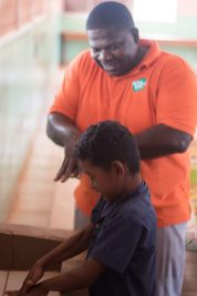 A handwashing exercise