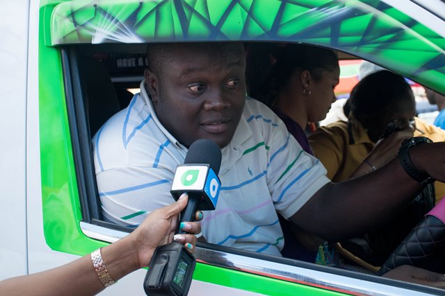 Minibus operator giving his view on the gas reduction.