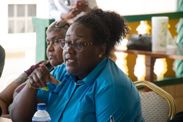 Minister within the Minister of Natural Resources, Simona Broomes during her Open Day forum hosted in Mahdia.