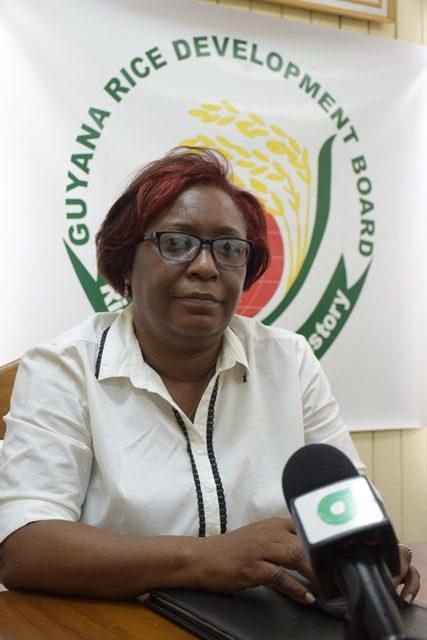 Deputy General Manager of the Guyana Rice Development Board (GRDB), Allison Peters.