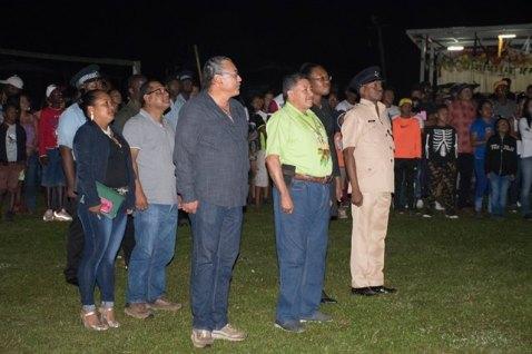 Scenes from Port Kaituma Flag Raising Ceremony.