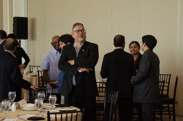 Some of the gathering at the commemorating luncheon at the Marriot Hotel.