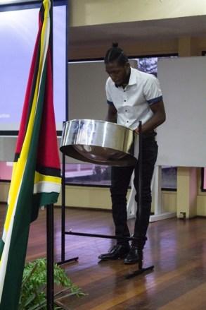 Shots during the University of Guyana's symposium.