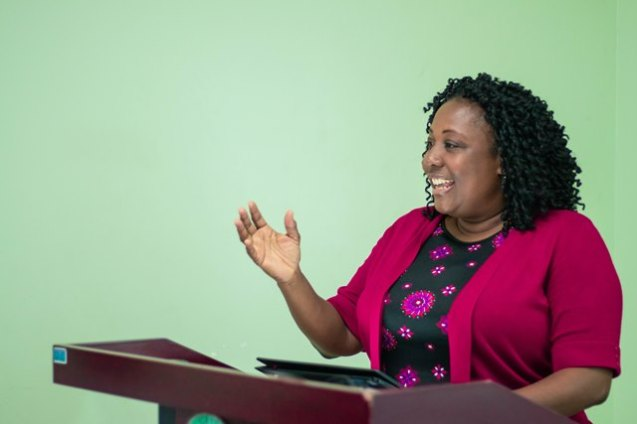 Mrs. Denise Robateau, Early Childhood Development and Education Officer, Caribbean Disaster and Emergency Management Agency (CDEMA).
