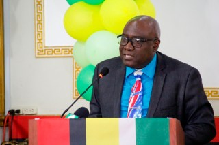Chief Education Officer, Mr. Marcel Hutson delivering remarks at the orientation exercise (Ministry of Education photo)