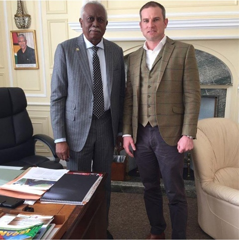 Richard held discussions with High Commissioner, Hamley Case in May 2018 about his voyage.