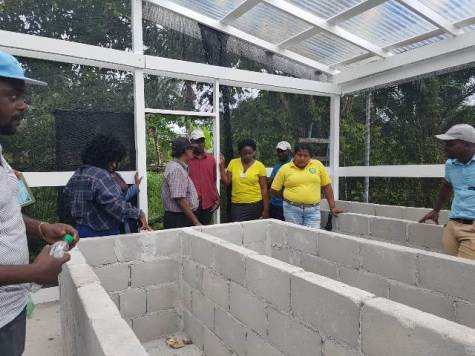 A shade house is currently being constructed by the group.