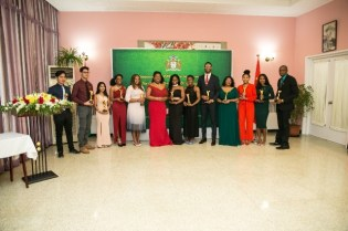 The outstanding graduates of 2019 China -Guyana Government Scholarship Department of Public Services.