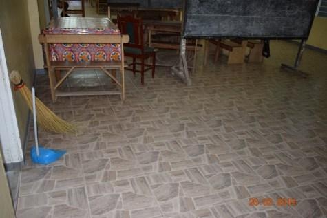 Tiled floors.