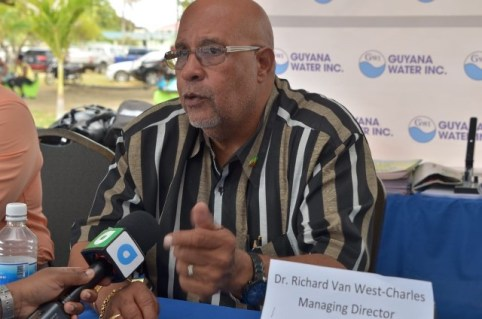 Dr. Richard van West-Charles, Managing Director of the Guyana Water Incorporated.