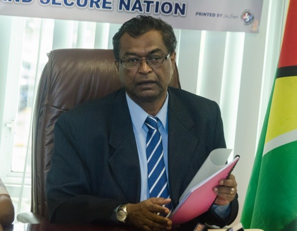 Minister of Public Security, Khemraj Ramjattan.