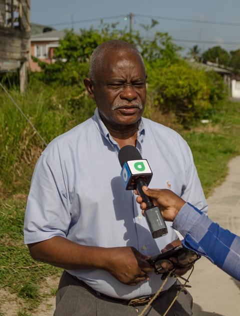 Minister of Citizenship Winston Felix.