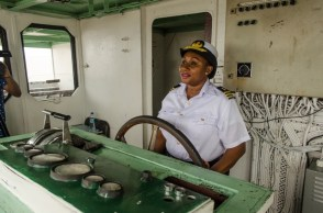 Captain Merchant in the Navigation Bridge.