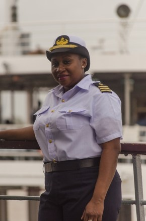 Captain Vanessa Merchant onboard the MV Malali.