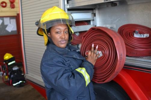 Firefighter, Melesia Martin.