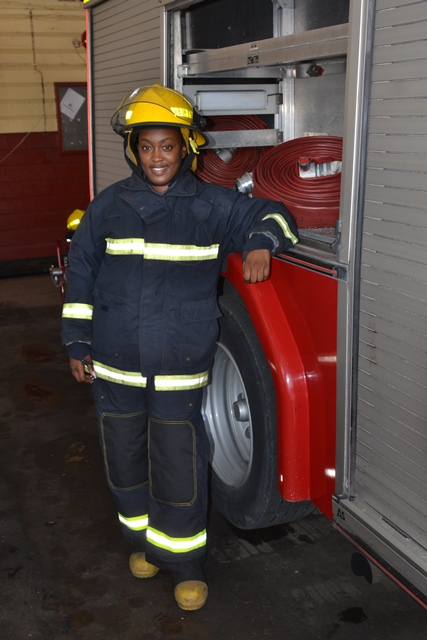 The brave, bold and heroic firefighter, Melesia Martin.