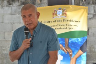 Minister of Social Cohesion with responsibility for Culture, Youth and Sport- Hon. Dr. George Norton